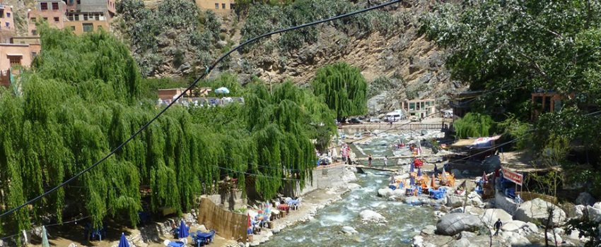 OURIKA VALLEY AT THE HIGH ATLAS